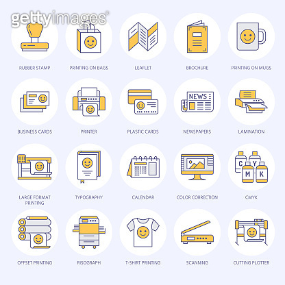 Filled line icons
