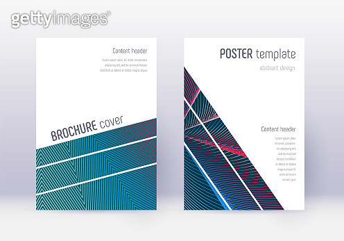 Geometric cover design template