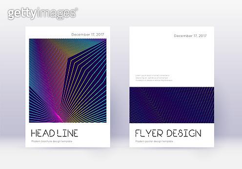 Minimalistic cover design template set