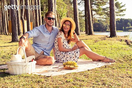 Enjoying picnic time