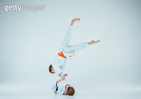 291043280f4fa The two boys fighting at Aikido training in martial arts school. Healthy  lifestyle and sports concept (959265852) - 게티이미지뱅크