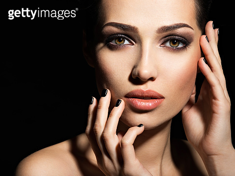 Beautiful girl with fashion makeup