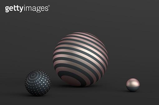 Abstract 3D Rendering of Spheres