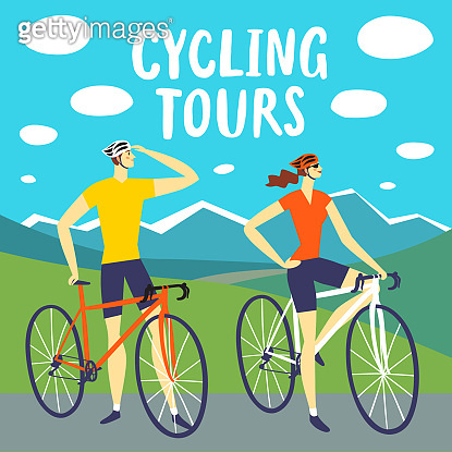 Cycling tours illustration