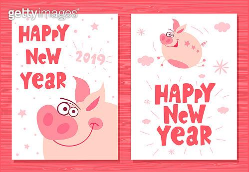 Cute funny character piggy
