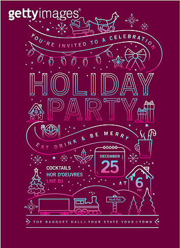 Christmas Party Invitation Design Template