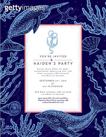 Nautical themed invitation design