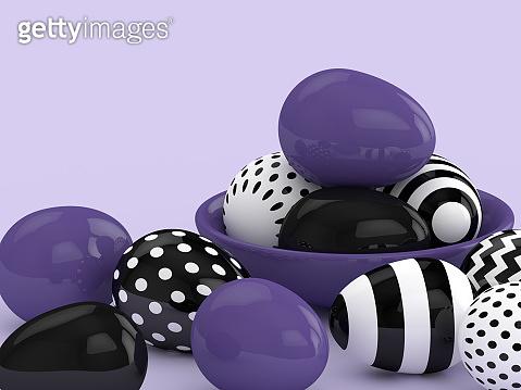 3d rendering of Easter elegant eggs