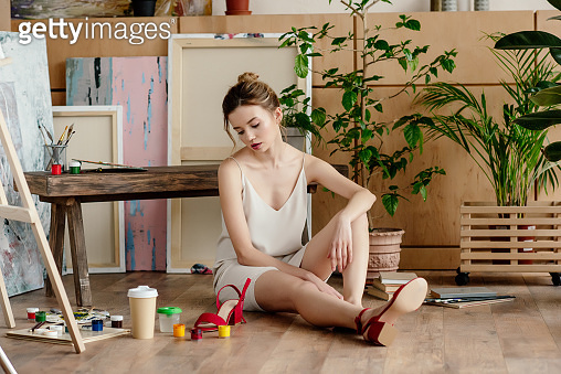 woman in art studio