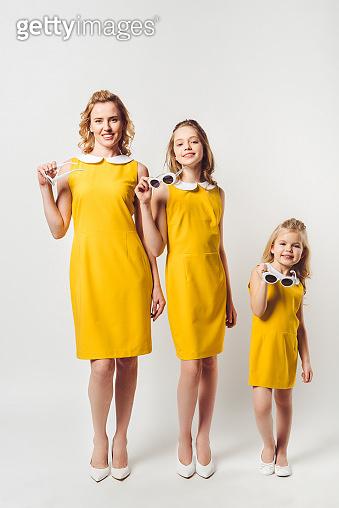 retro style yellow dresses