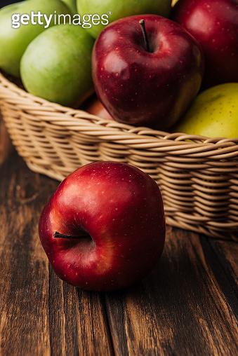 Multicolored apples