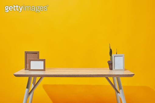Photo frames and vase background