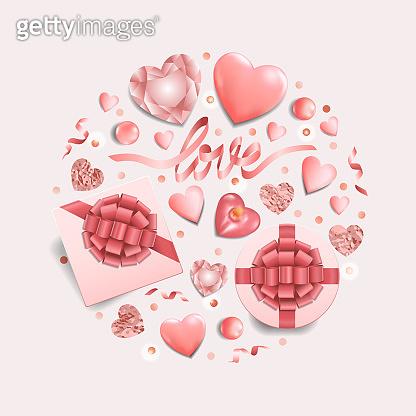 Valentine's day greeting illustration