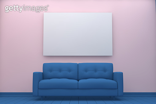 Empty Frame in Living Room