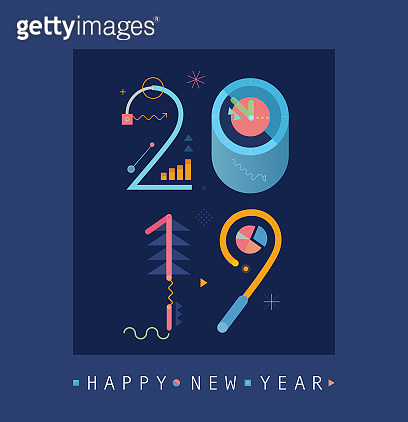 Happy New Year 2019 Vertical