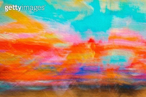 Abstract Painting Colored Art Background