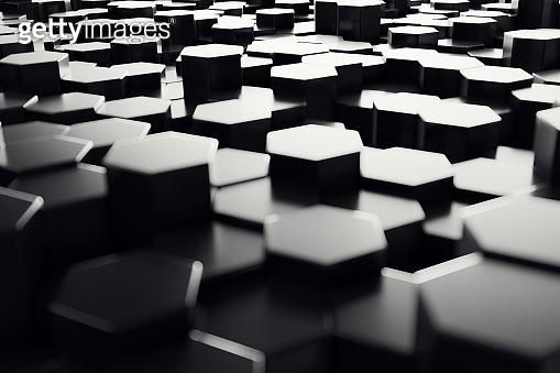 Hexagonal black background
