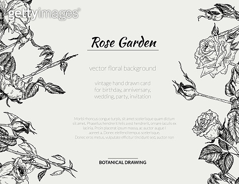 Rose template & pattern