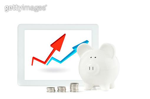 piggy bank & coin