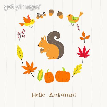 가을 동물 친구들