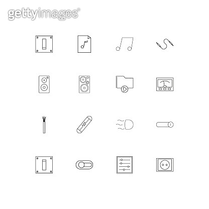 simple linear icons set