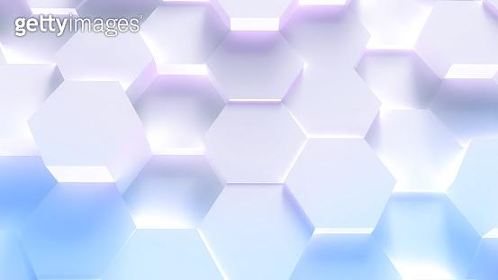 Technology hexagon pattern