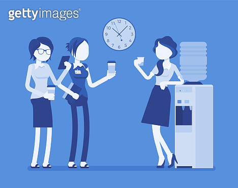 Office workers illustration