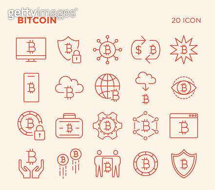 Simple set of icons