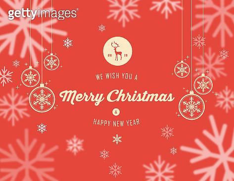 Christmas holidays snowflake