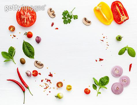 The ingredients for italian food