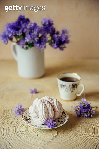 Marshmallow with coffee