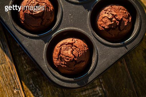 homemade chocolate muffin cake