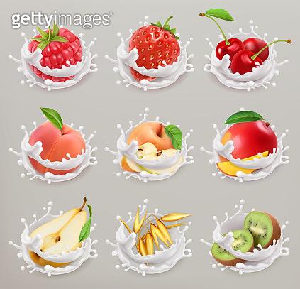 Fruit and yogurt splash