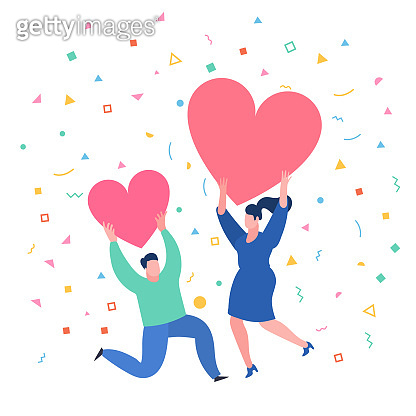 Love and relationship illustration