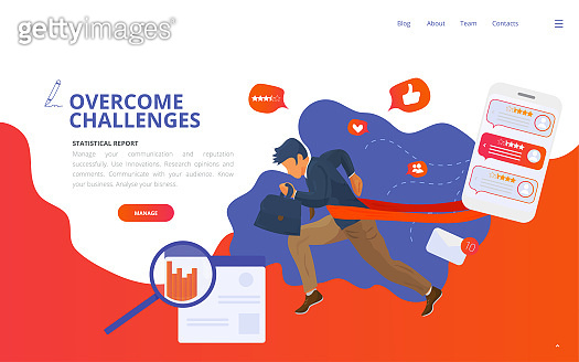 Web template illustration