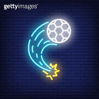 Soccer Neon style vector