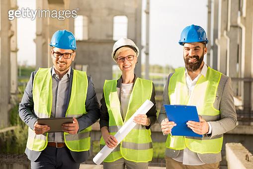 The supervisor, construction site