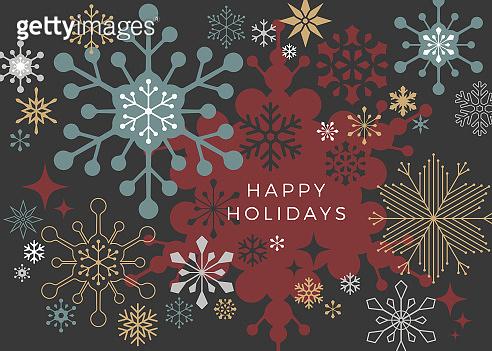 Modern Graphic Snowflake - Holiday