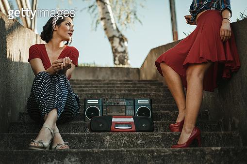 retro styled women