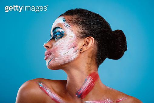 Studio portrait of a beautiful young woman