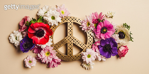 Flower peace background