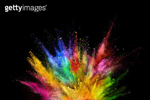 Colored powder explosion