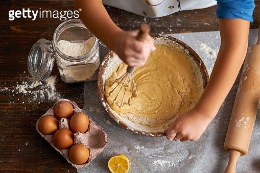 cake at kitchen together