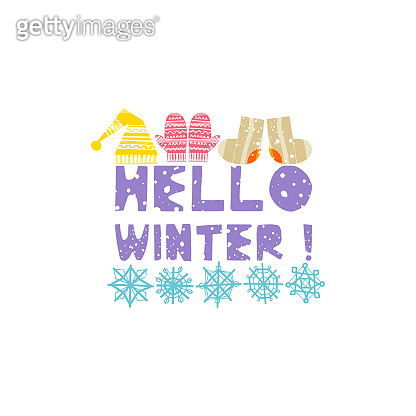 Winter elements with lettering