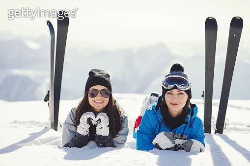겨울 스키장