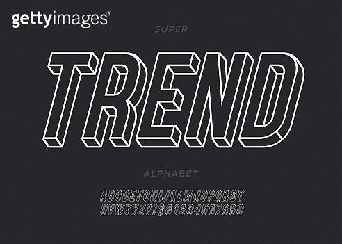3D urban font