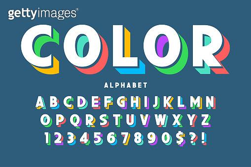 3D display typography