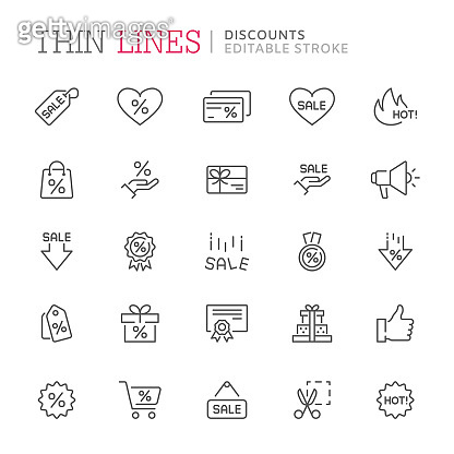 line icons - shopping, money