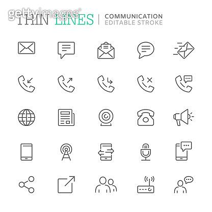 Thin line icon