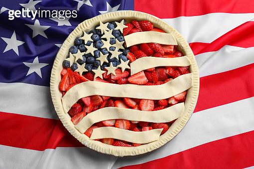 American flag pie